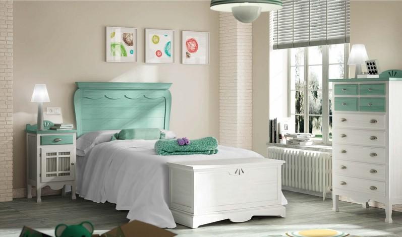 Dormitorios muebles villada for Dormitorio verde agua
